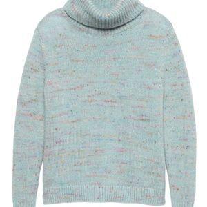 Confetti wool blend turtleneck sweater